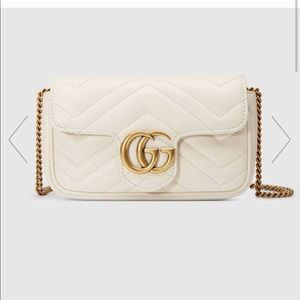 Gucci GG Marmont matelassè leather super mini bag